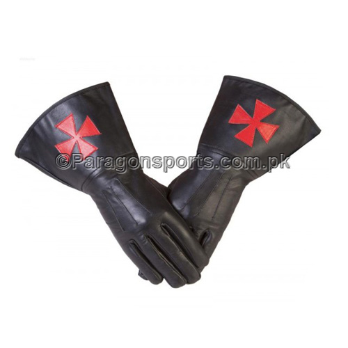 knights templar masonic gauntlets in real leather